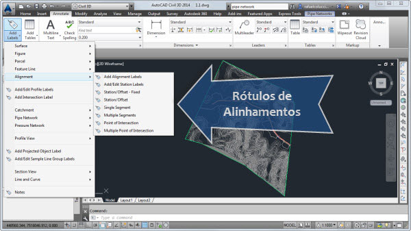 add labels alugnment rotulos de alinhamentos